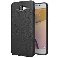 Husa de protectie Leather Samsung Galaxy J5 Prime, Negru