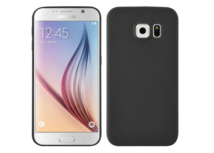 Husa silicon slim Samsung Galaxy S6, Black Matte