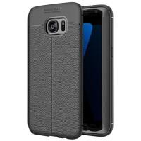Husa de protectie Leather Samsung Galaxy S6 Edge, Negru