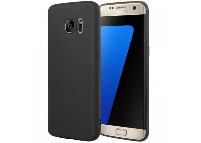 Husa silicon slim Samsung Galaxy S7, Black Matte