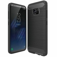 Husa de protectie Carbon Samsung Galaxy S7 Edge, Negru