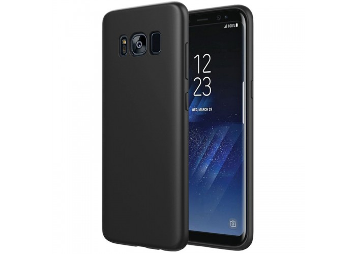 Husa silicon slim Samsung Galaxy S8 Plus, Black Matte