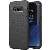 Husa de protectie Leather Samsung Galaxy S8, Negru