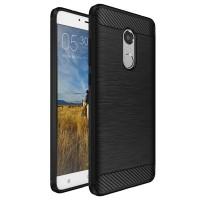 Husa Carbon Xiaomi Redmi Note 3 / Note 3 Pro, Black