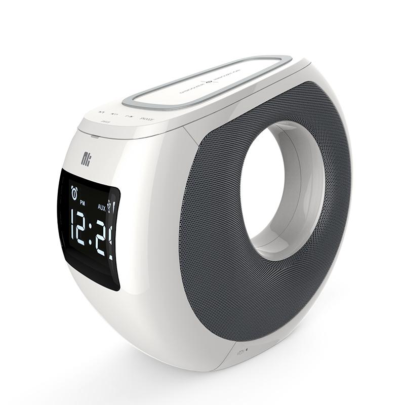 Boxa Portabila Nillkin Cozy Mc1, Bluetooth, Incarcare Wireless, Nfc, 2*10w, Alb