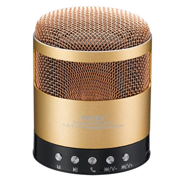 Boxa Portabila Wster Ws-851, Bluetooth, Radio Fm, Usb, Microsd, Handsfree, 600mah, Gold