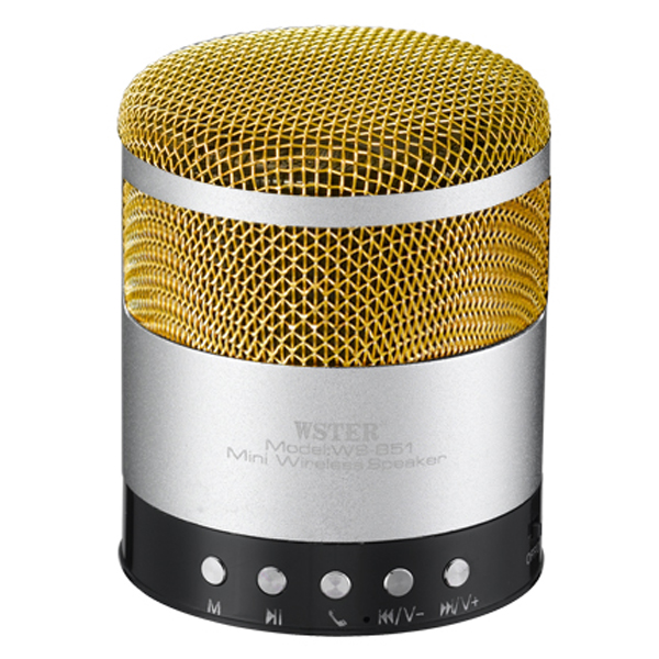 Boxa Portabila Wster Ws-851, Bluetooth, Radio Fm, Usb, Microsd, Handsfree, 600mah, Silver