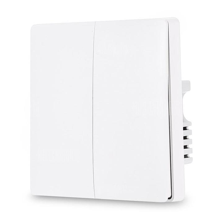 Intrerupator Inteligent Dublu Xiaomi Aqara, Wireless, Alb