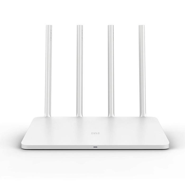 Router Wi-Fi Xiaomi Mi 3, Gigabit, Dual Band 2.4GHz/5GHz, 128MB RAM, 4 antene, Alb