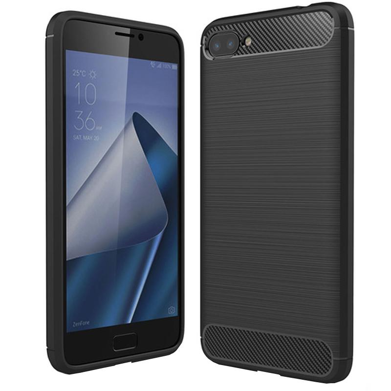 Husa Carbon Asus Zenfone 4 Max (zc554kl), Negru