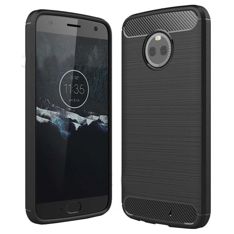 Husa Carbon Motorola Moto X4, Negru
